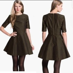 Ted Baker London Jacquard Polka Dot Dress